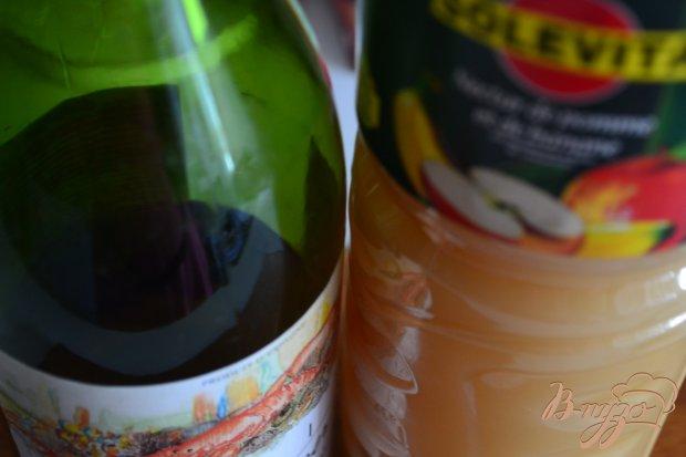 Прохладительный напиток с вином и мороженым