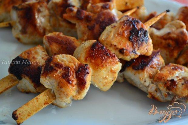 Шашлычки из куриного мяса на сковороде