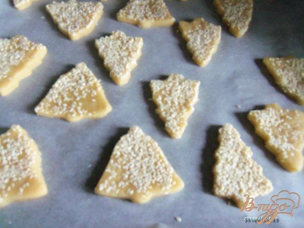 Печенье с кунжутом и малиновым ароматом