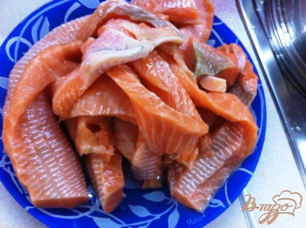 Слабосоленый лосось в вустерском соусе
