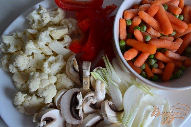 Овощи с лапшой вок