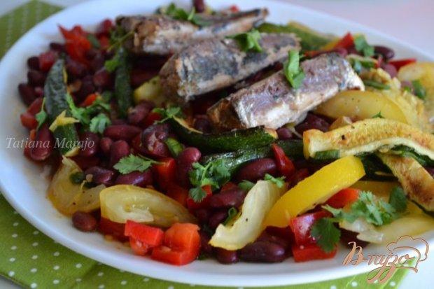 Овощная закуска-салат с сардинами