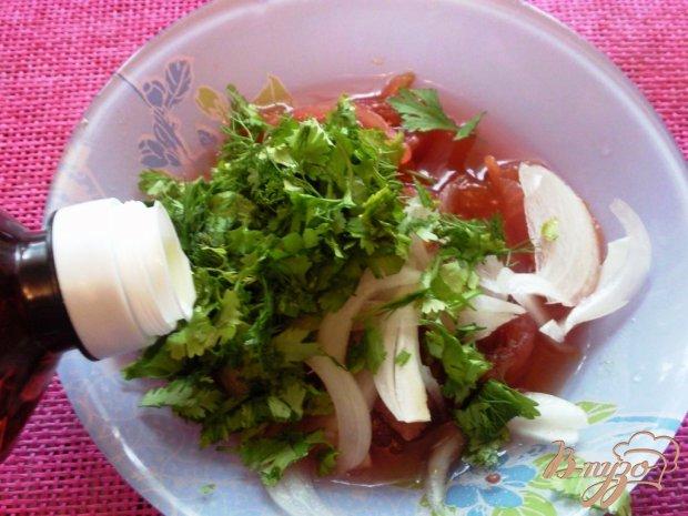 Салат из соленых помидоров