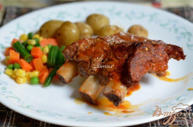 Свиные ребра в итальянском соусе