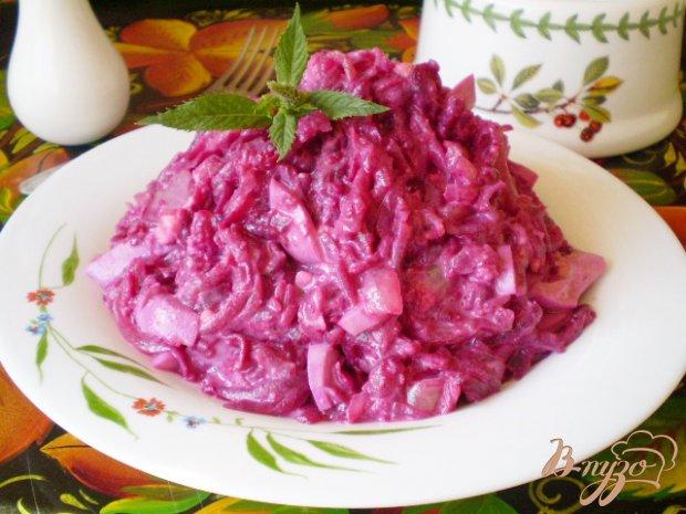 Свекольный салат с яйцом