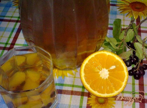 Компот из рябины и апельсина