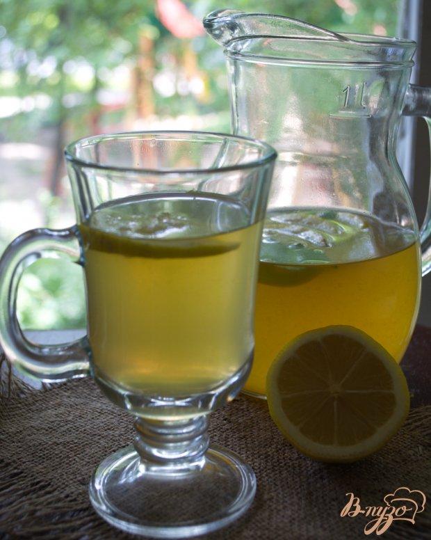 Лимонад на зеленом чае