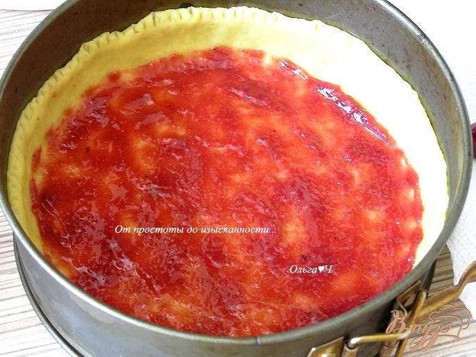 Фото приготовление рецепта: Творожный пирог с карри шаг №6