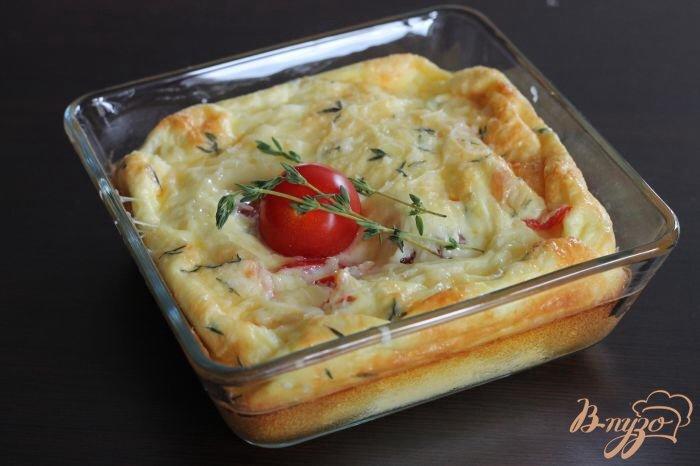 Фото приготовление рецепта: Сырная фриттата шаг №5