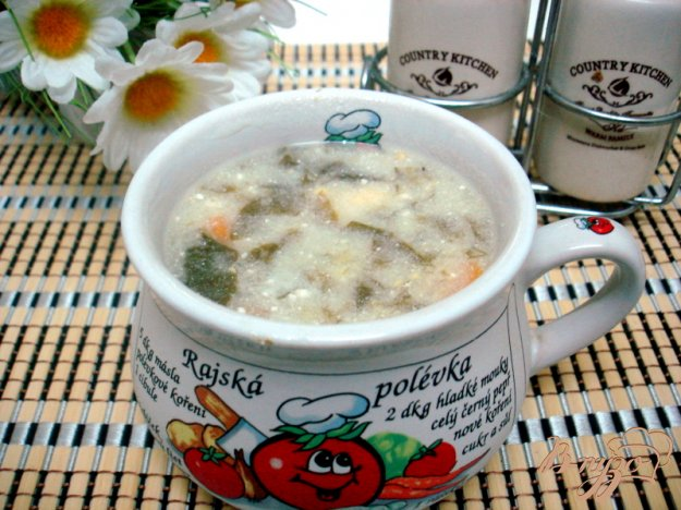 фото рецепта: Суп щавелевый особый