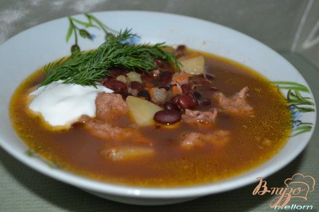 фото рецепта: Фасолевый суп с клецками из цельнозерновой муки
