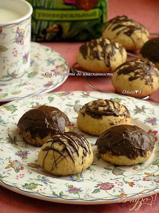 Творожные пряники в шоколаде