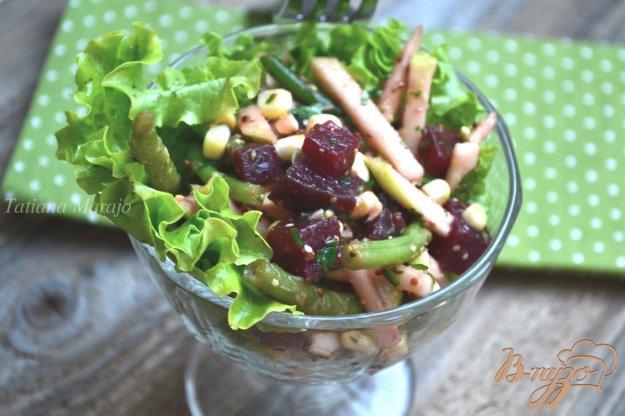 Рецепт Салат со свеклой и стручковой фасолью
