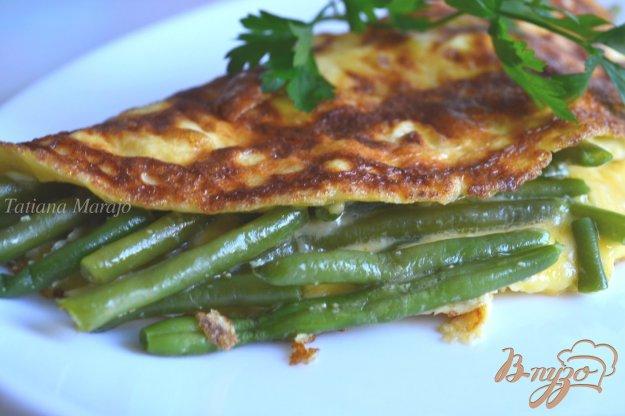 Рецепт Омлет с сыром и фасолью