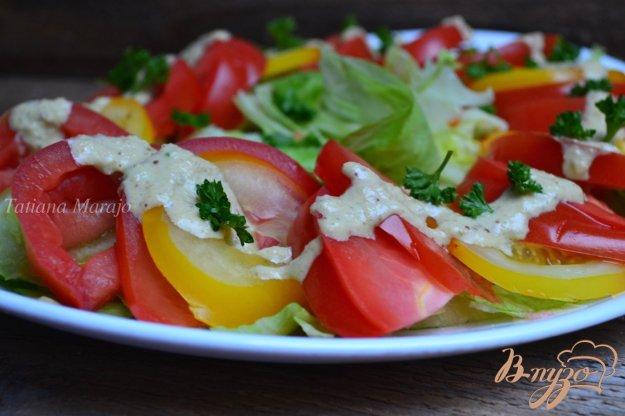 Рецепт Овощной салат с ореховым соусом