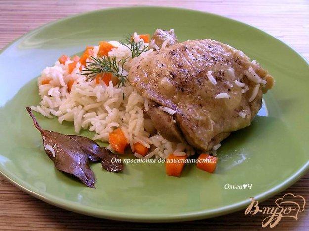 Рецепт Курица с рисом (в мультиварке)