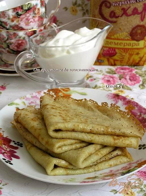 Бабушкины блинчики с коричневым сахаром