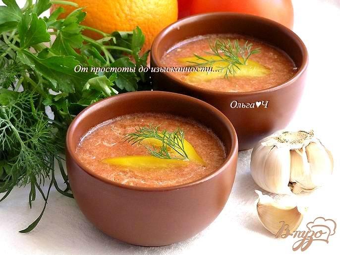 Фото приготовление рецепта: Гаспачо с апельсином шаг №4