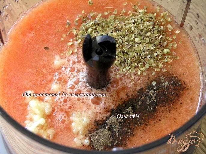 Фото приготовление рецепта: Гаспачо с апельсином шаг №2