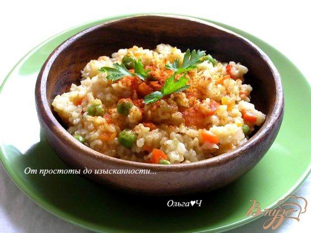 Рецепт Плов из коричневого риса с овощами