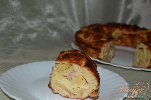Рецепт Пирог с яблоками, нектарином и карамельной корочкой