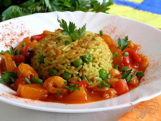 Рецепт Креветки в кисло-сладком соусе с рисом по-восточному