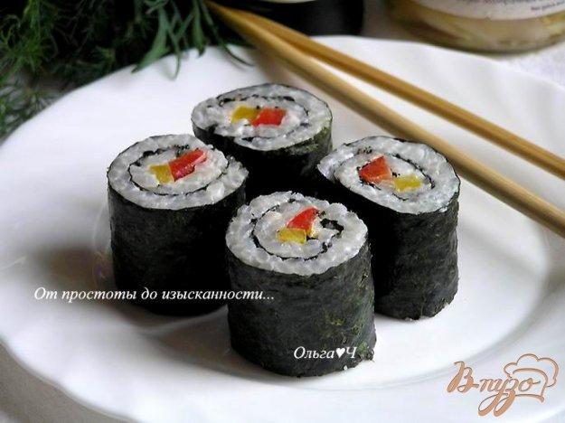 Рецепт Суши фьюжн: Сладкий перец и кунжут
