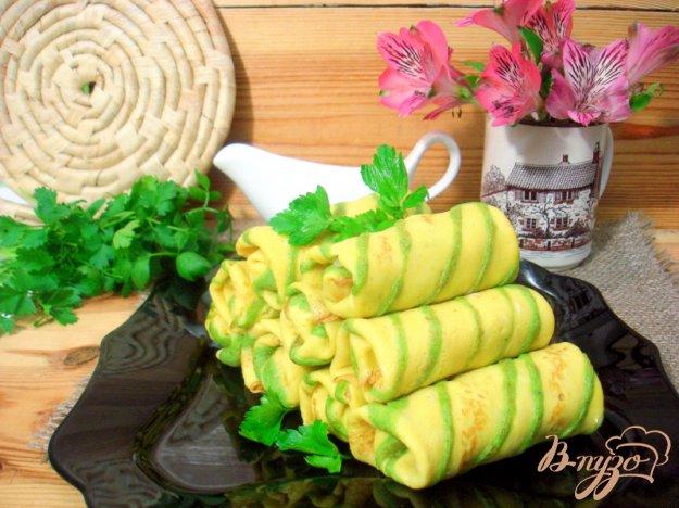 Рецепт Блинчики полосатики с капустой