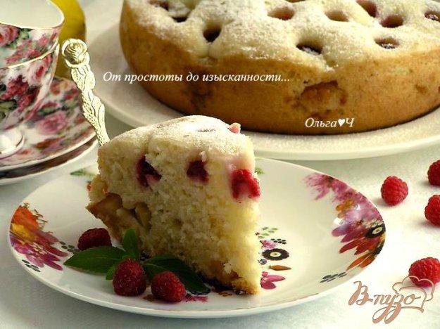 Рецепт Кекс с яблоком и малиной