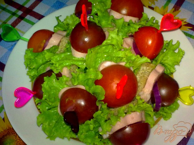 Рецепт Канапе с колбасой