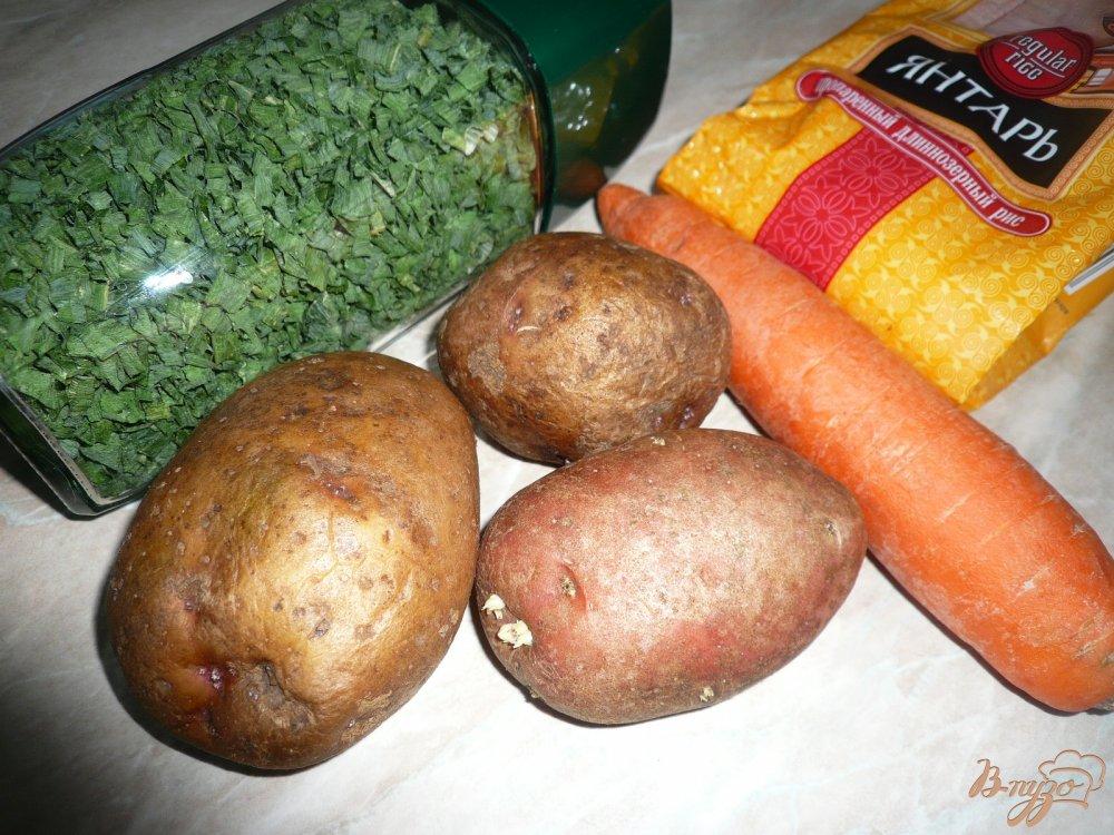 Фото приготовление рецепта: Суп с рисом и картофелем шаг №1