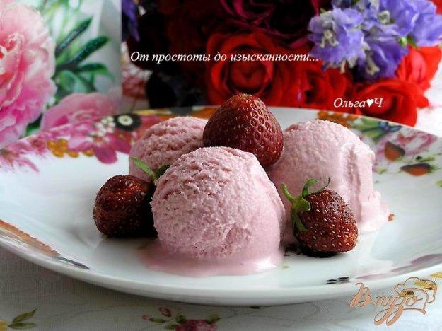 Рецепт Сливочное клубничное мороженое