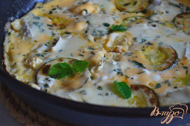 Рецепт Омлет с цукини, мятой и голубым сыром