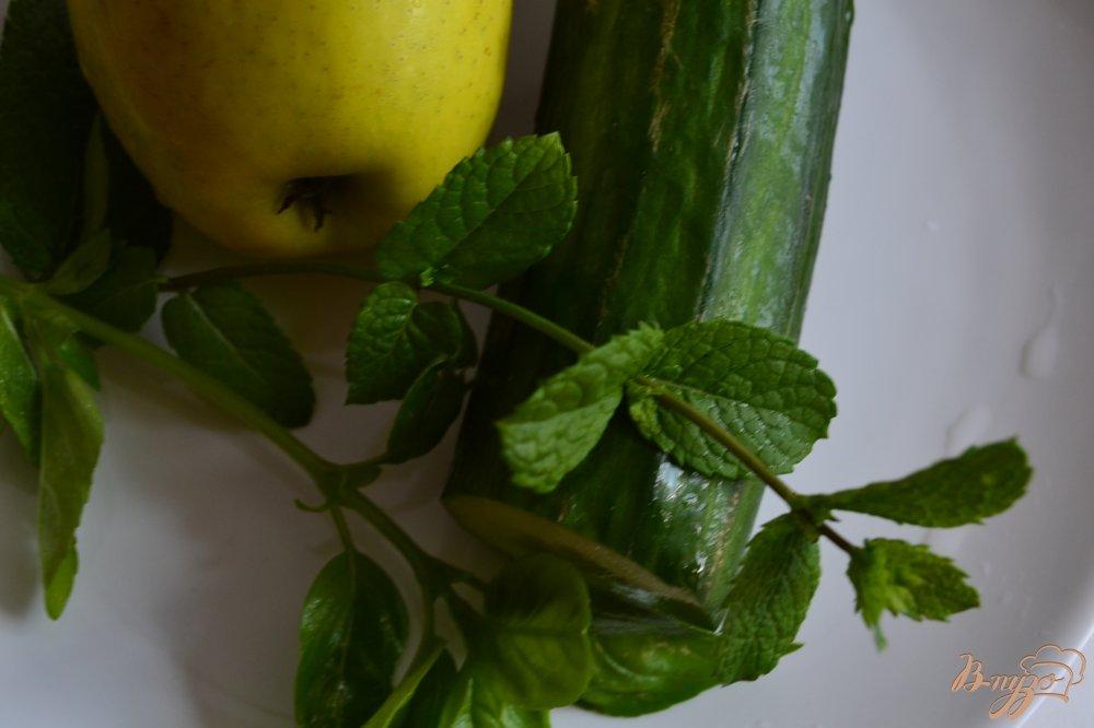Фото приготовление рецепта: Огуречно-яблочный гаспачо с мятой шаг №1