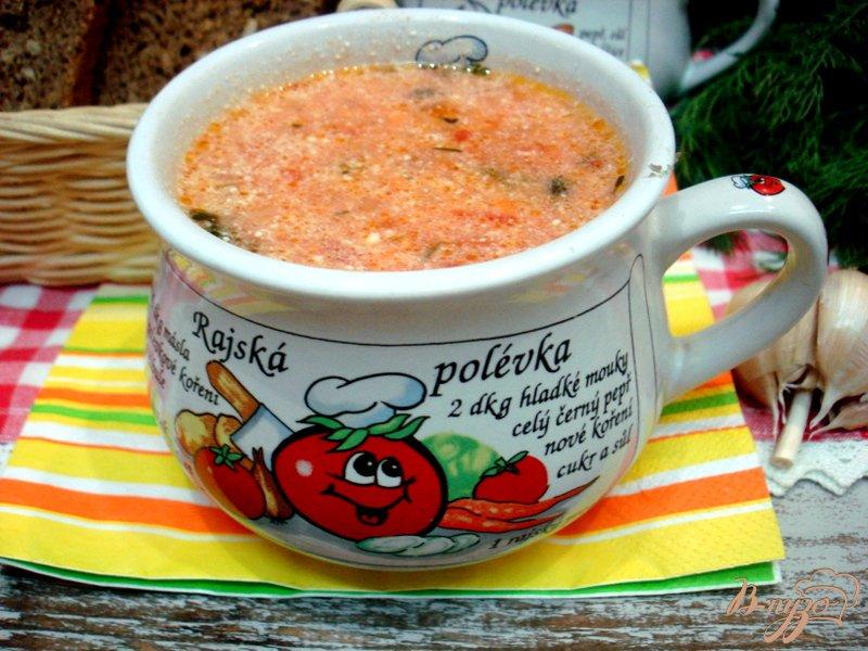 Фото приготовление рецепта: Суп из помидоров  (помидорова зупа) шаг №8