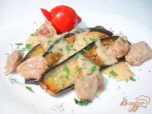 Рецепт Баклажаны гарнирные с телятиной в соусе