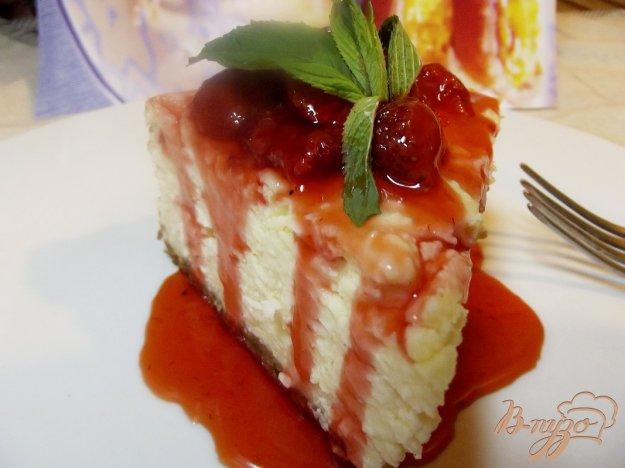 Рецепт Запеканка творожная с клубничным соусом