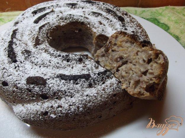 Рецепт Овсяный кекс с малиновым вареньем