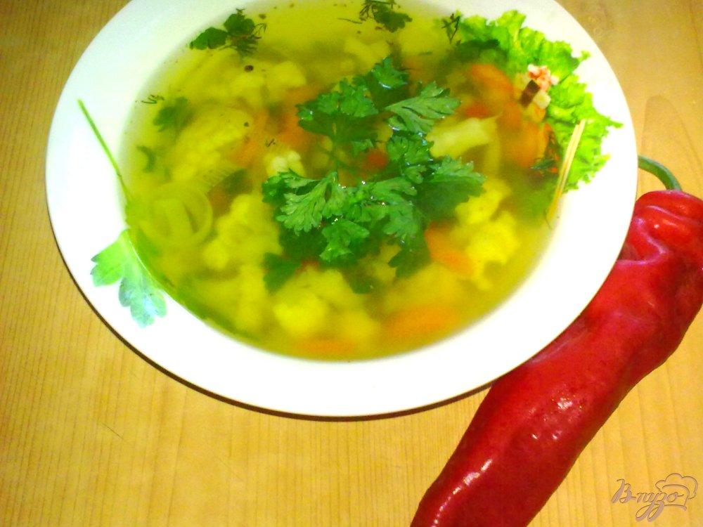 Фото приготовление рецепта: Суп с луком пореем шаг №9