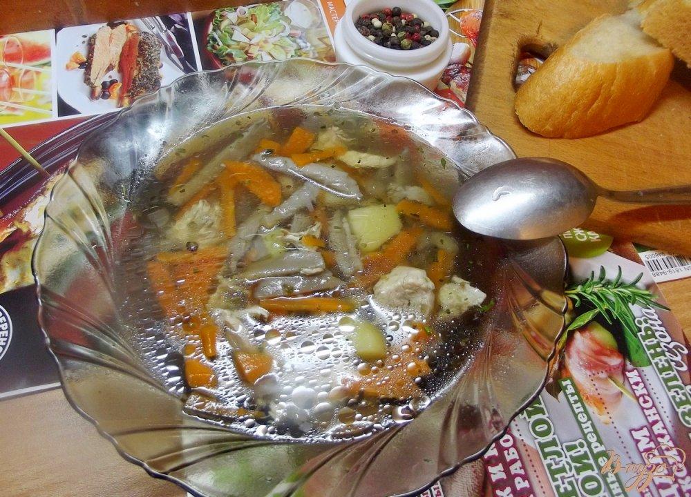 Фото приготовление рецепта: Суп с вешанками шаг №8