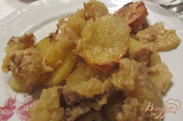 Рецепт Аппетитный картофель тушенный с грибами и свининой.
