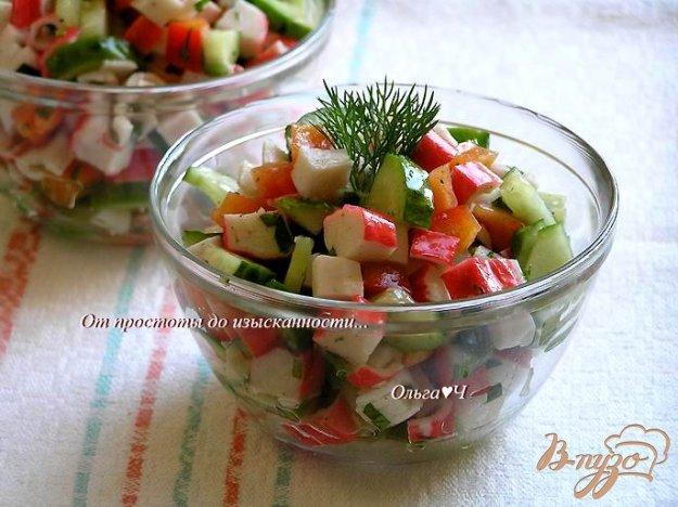 фото рецепта: Овощной салат с крабовыми палочками