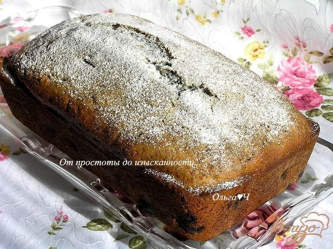 Фото приготовление рецепта: Мятный вишневый кекс шаг №7
