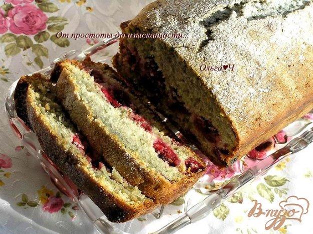 фото рецепта: Мятный вишневый кекс