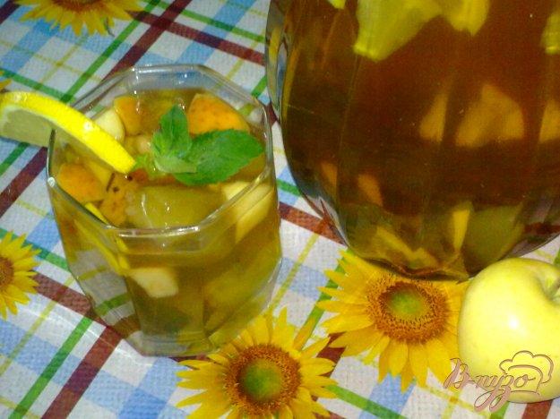 Рецепт Холодный чай с ромашкой и яблоком