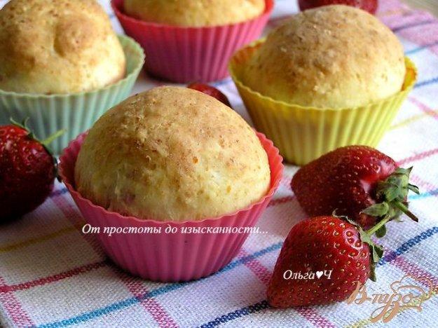 Рецепт Творожные булочки с клубникой