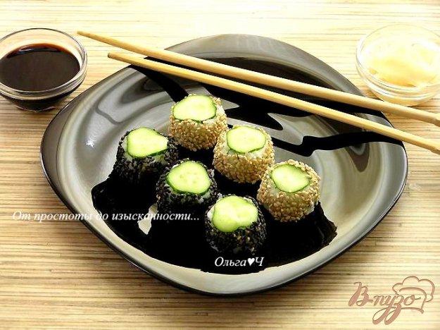 Рецепт Онигири с огурцом