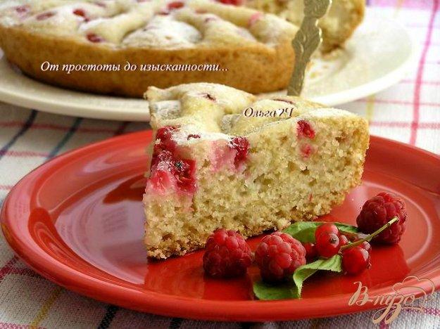 Рецепт Пирог с яблоком и красной смородиной (в мультиварке)