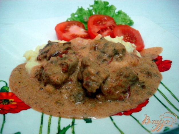 фото рецепта: Телятина в томатно-сметанном соусе