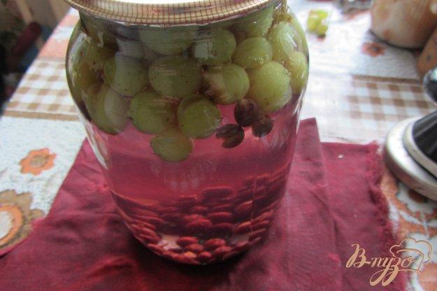 фото рецепта: Консервированый виноградный компот